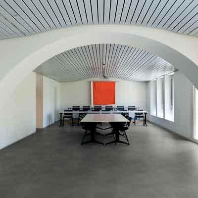 dalle plombante pvc simplay dark grey concrete objectflor. Black Bedroom Furniture Sets. Home Design Ideas